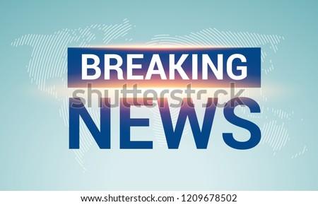 breaking news broadcast concept design template stock vector