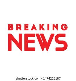 breaking news icon. flat illustration of breaking news vector icon. breaking news sign symbol