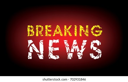 breaking news template, vector background