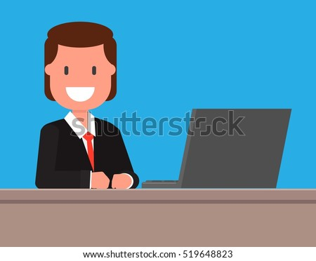 Breaking News Tv Background Man Reporter Stock Vector Royalty Free