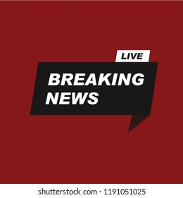 breaking news vector banner
