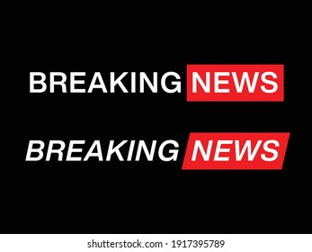 Breaking news vector overlay graphic for TV or internet podcast