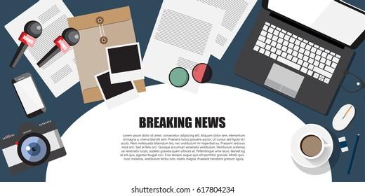 Breaking News.Journalist Concept