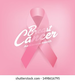 Breast Cancer Awareness Calligraphy Poster Design. World October Breast Cancer Awareness Month Banner.