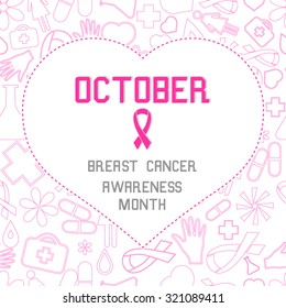 Breast Cancer Awareness Month. Banners, Flyers, Placards and Posters.