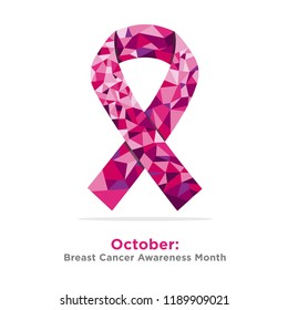 Breast Cancer Awareness Month with pink ribbon