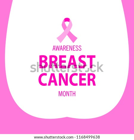 Breast Cancer Awareness Month Poster Design Stock Vector Royalty