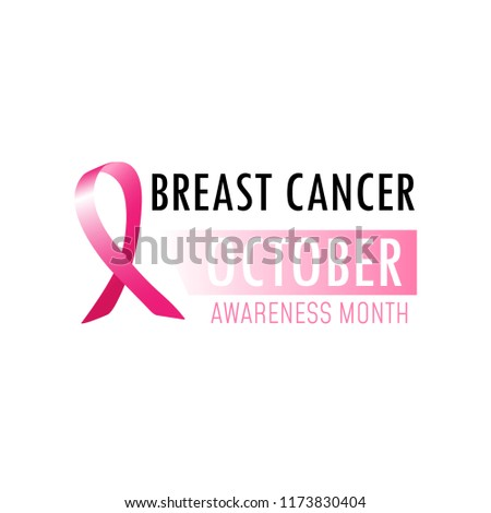 Breast Cancer Awareness Month Poster Pink Stock Vector Royalty Free