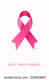 Breast cancer awareness, pink ribbon
