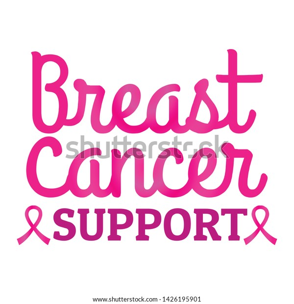 Breast Cancer Awareness Quotes Breast Cancer Stock Vector ...