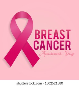 Breast Cancer Awareness Ribbon Background.