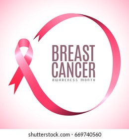 Breast cancer campaign graphic design, Vector illustration