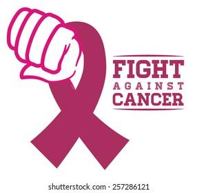Breast cancer design over white background ,vector illustration.