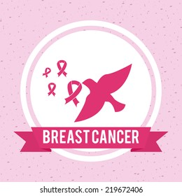 breast cancer graphic design , vector illustration