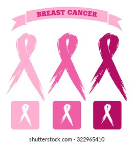 breast cancer icons
