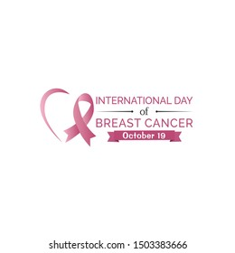 Breast cancer October awareness month campaign design. Vector illustration isolated on white background.  Breast cancer awareness program vector template design.