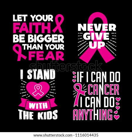 Breast Cancer Quotes Saying 100 Vector Stock Vector Royalty Free