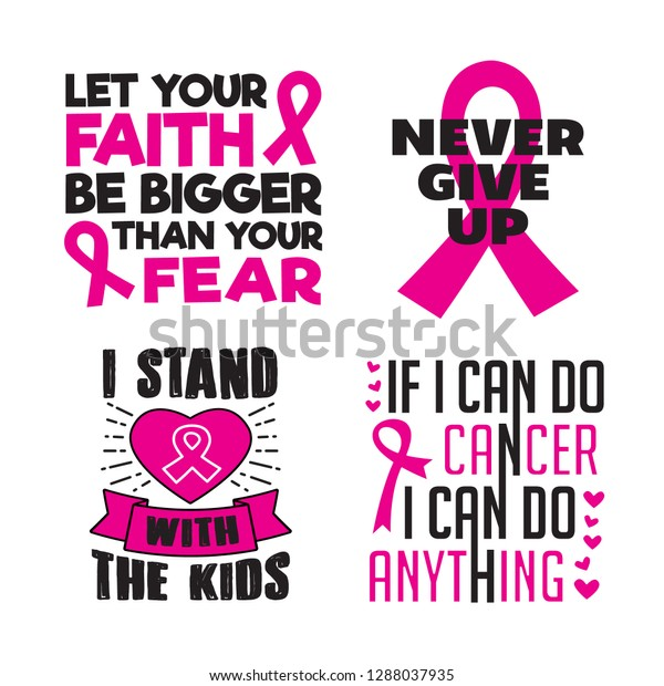 Breast Cancer Quotes Saying 100 Vector Stock Image ...