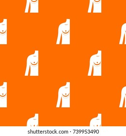 Breast implant surgery. pattern repeat seamless in orange color for any design. Vector geometric illustration