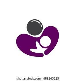 Breastfeeding love icon