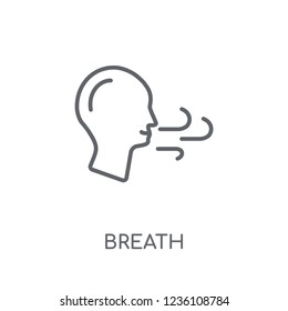 Breath linear icon. Modern outline Breath logo concept on white background from Dentist collection. Suitable for use on web apps, mobile apps and print media.