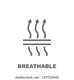 Breathable icon. Element of row matterial icon. Thin line icon for website design and development, app development. Premium icon