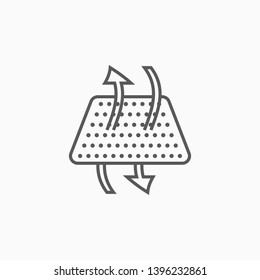 breathable icon, fabric vector, airflow illustration