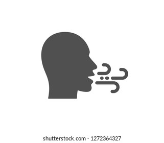 Breathing icon. Breath difficulties sign. Respiration problems symbol. Quality design element. Classic style icon. Vector