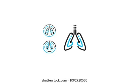 breathing lung logo vector