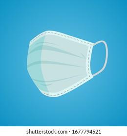 Breathing medical respiratory mask. Hospital or pollution protect face masking. Good help COVID-19 (coronavirus).