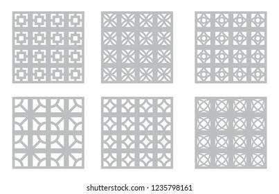 Breeze Block Patterns, Mid Century Modern Concrete Breeze Block, MCM Design Elements, Modernism Backgrounds, 50s & 60s Textures & Templates, Vintage Building Materials, Decorative Geometric Backdrops