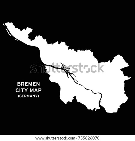 Bremen Germany Map Vector Stock Vector Royalty Free 755826070