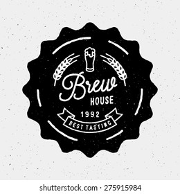 Brew House Vintage Logotype For Beer House, Brewing Company, Beer House, Pub, Bar