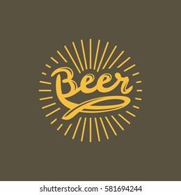 Brewery, Bar, Beer logo. Vintage Brewery label design. Beer glass. Cafe, Restorant, Beer, Bar, Hops icon. Craft beer label, emblem.