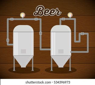 brewery beer production factory vector illustration eps 10