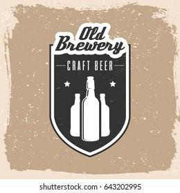 Brewery logo emblem design. vector illustration.