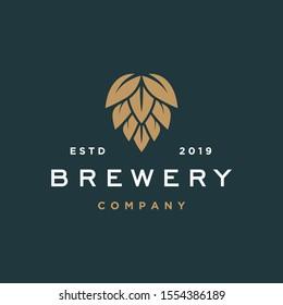 brewery logo vector hipster retro vintage label illustration