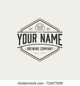 brewing company logo. brewing logo. vintage brewing logo vector