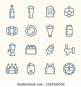 Brewing line icons