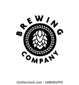 Brewing logo design vector template with vintage Concept style. drink Symbol and Modern icon for Company And Business.