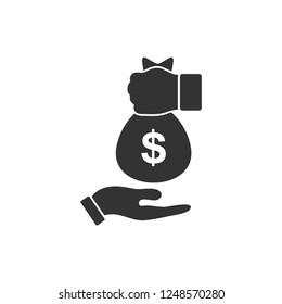 Bribe icon. Icon Flat