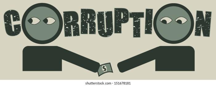 Bribery and corruption concept