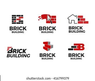 Brick Building Logo Design Templates