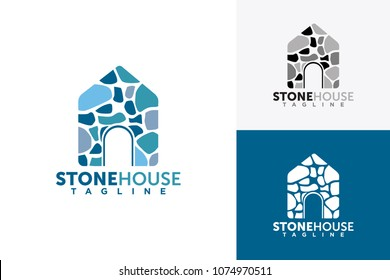 brick house logo design template element