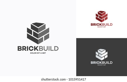 Brick Logo designs vector, Brick Build simple modern logo template
