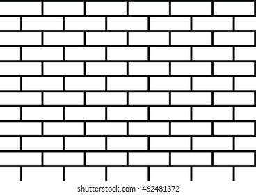 brick pattern black and white vector