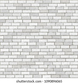 Brick wall background and texture. White brick grunge style. Vector illustration.