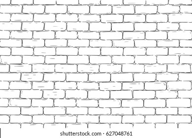 Brick wall background. Vector illustration