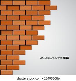 Brick wall. EPS10 vector