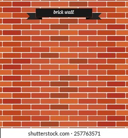 Brick wall. Flat style design - vector